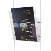 flybag acrylic brochure tray transparent